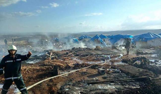 Ataque en campamento de refugiados al norte de Siria