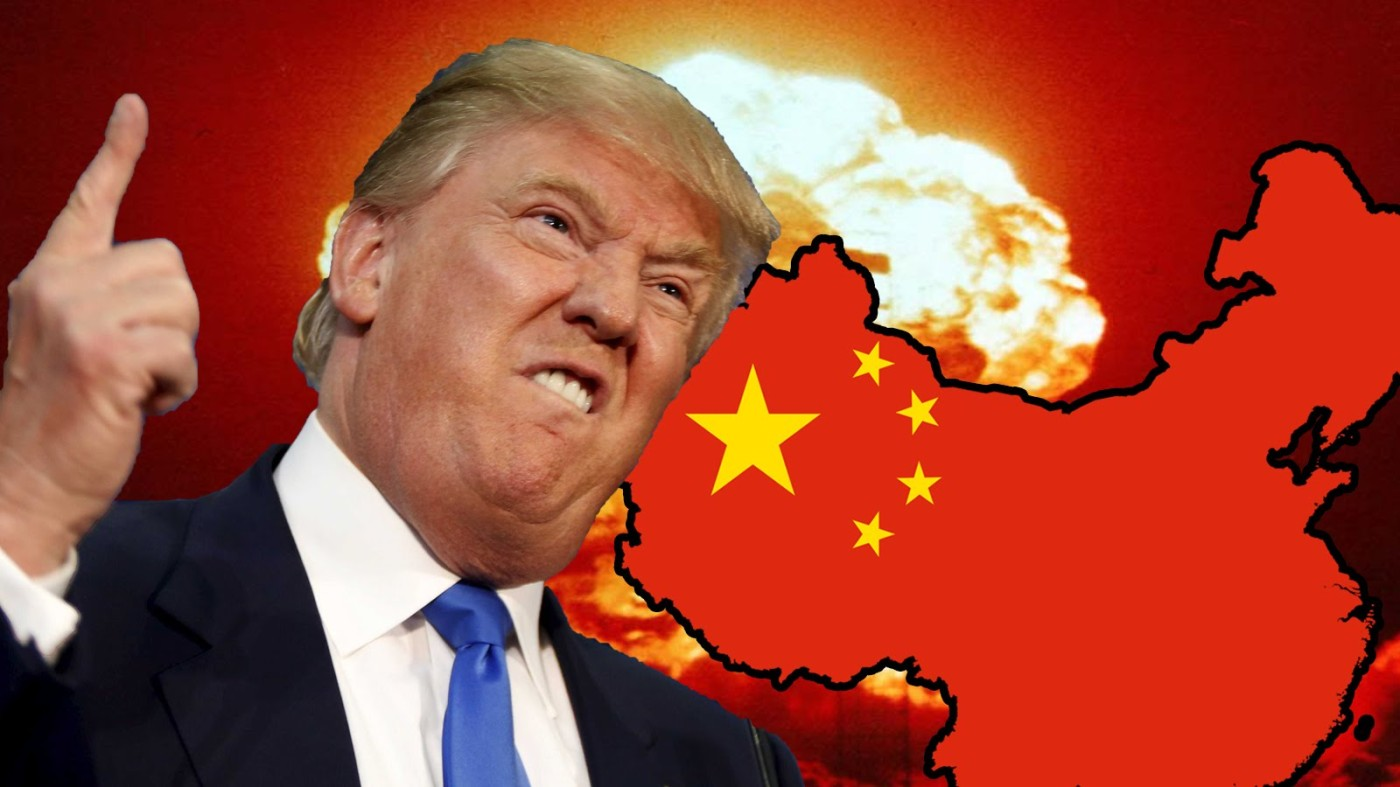 Donald Trump y bandera China