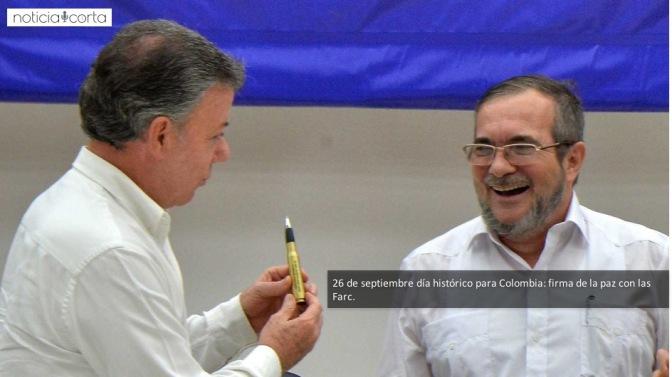 Colombia firma la paz con las Farc