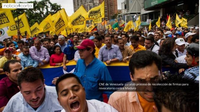 Paralizan proceso de referéndum revocatorio contra Maduro