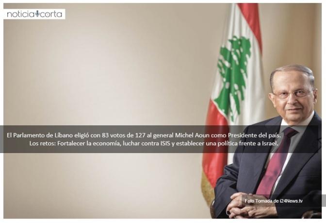 Líbano tiene nuevo presidente tras dos años sin gobierno