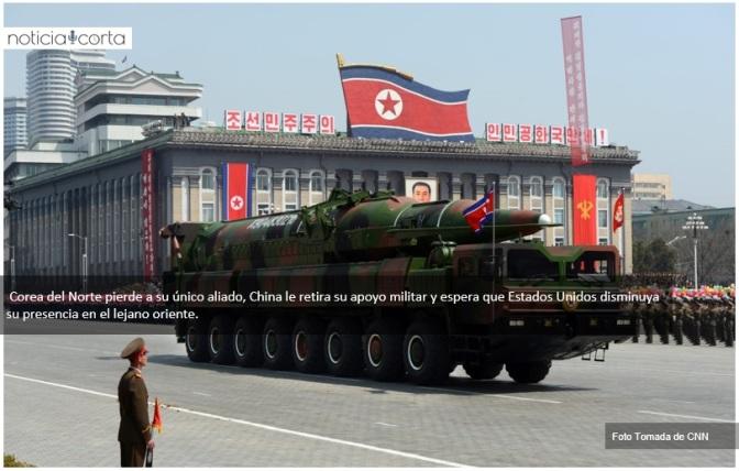 China retira apoyo militar a Corea del Norte