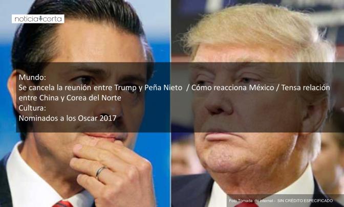 Noticias, Viernes, Enero 27, 2017