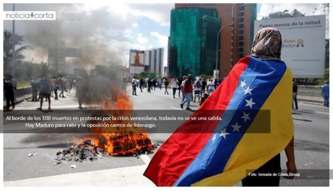 Tres noticias de la infinita crisis de Venezuela